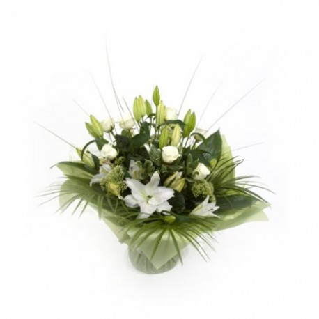Simply White Lily Handtied