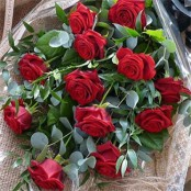Traditional Dozen Gift Wrapped Roses
